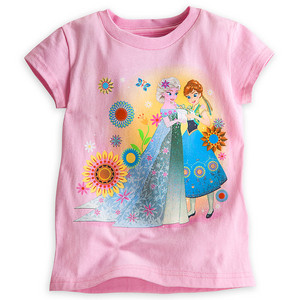 nagyelo Fever Anna and Elsa Tee for Girls
