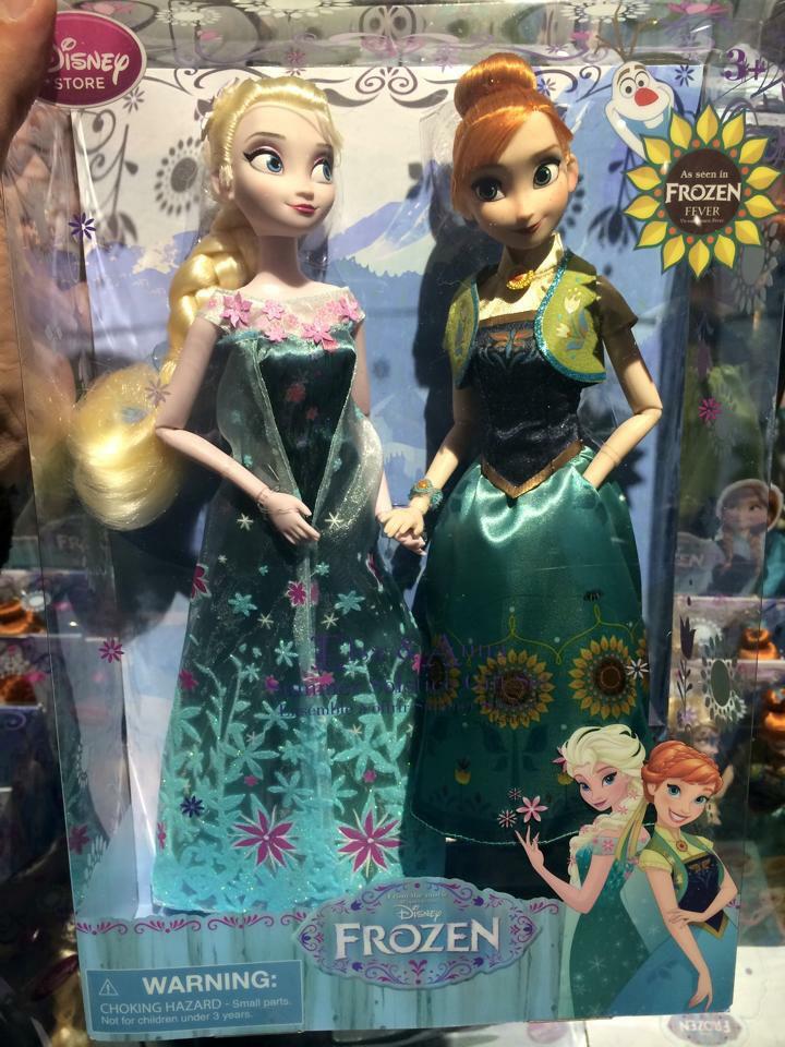 《冰雪奇缘》 Fever Elsa and Anna 玩偶