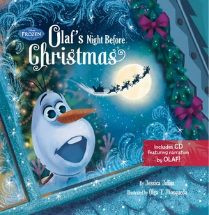 Frozen - Uma Aventura Congelante - Olaf's Night Before natal Book