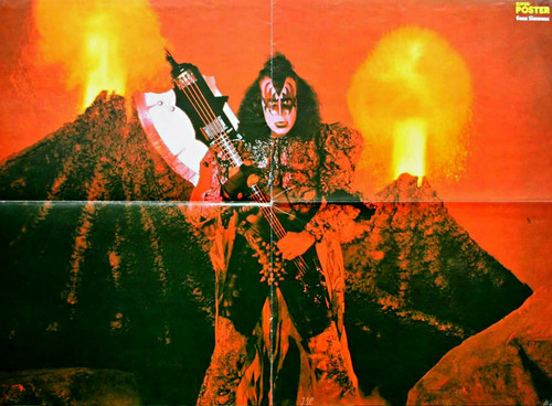 kiss fondo de pantalla probably containing a fuego titled Gene Simmons poster 1979