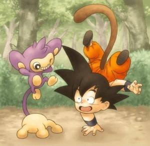 Goku and Aipom