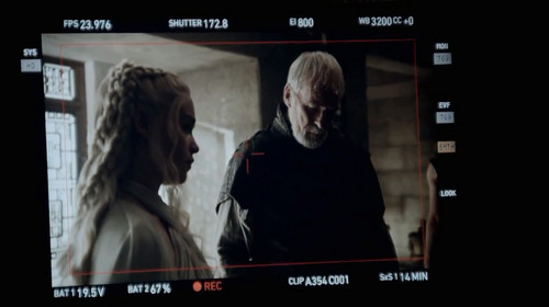 Daenerys Targaryen wallpaper possibly with a Televisione receiver entitled Got S5 BTS