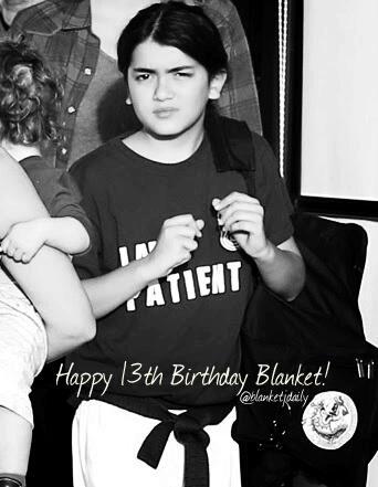 Blanket Jackson karatasi la kupamba ukuta called Happy 13th Birthday Blanket 2015