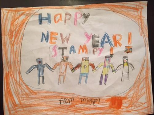 Stampylongnose Hintergrund called Happy New Jahr Stampy