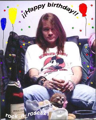 Happy birthday Axl Rose - Guns N' Roses Photo (38111103