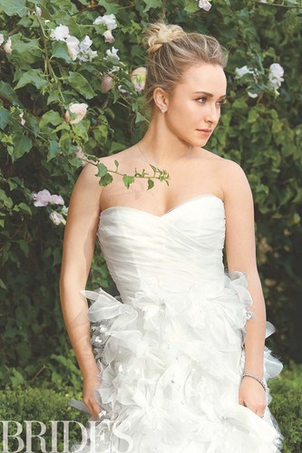 Hayden Panettiere wallpaper probably with a gown, a bridesmaid, and a bridal gown entitled Hayden Brides photoshoot