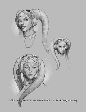 "Hera Head Sketch ""New Dawn"""