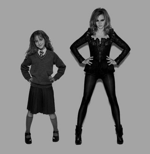 Hermione Granger wallpaper with a legging, a well dressed person, and a hip boot entitled Hermione Granger Young/Old