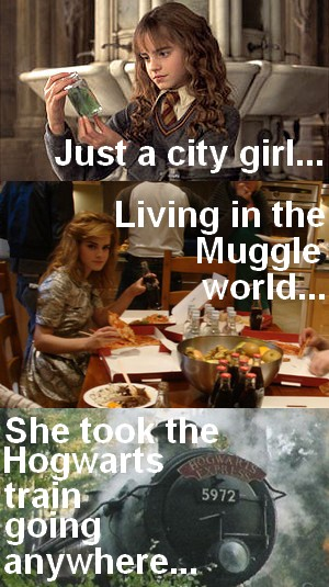 Hermione Granger version of Don't Stop Believin'
