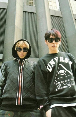 B.A.P वॉलपेपर with sunglasses titled Himchan~Jongup hotties❤ ❥