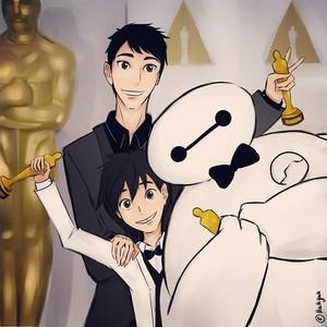 Hiro, Tadashi and Baymax