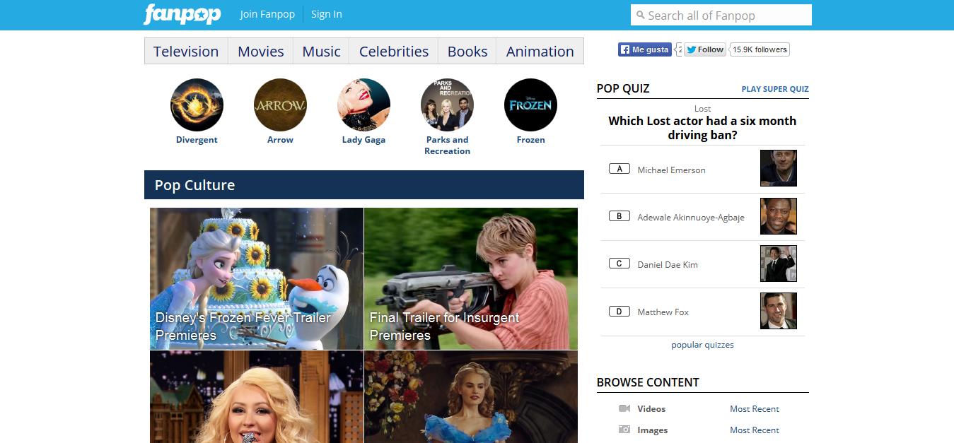 Homepage version 2