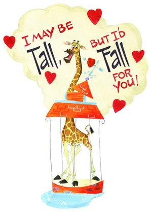 I may be tall, but I'd fall for you!