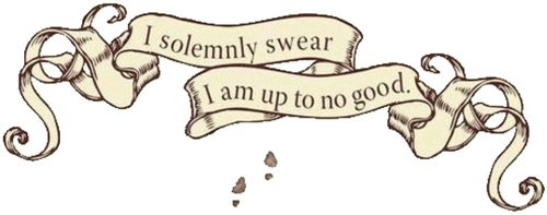 Harry Potter fond d'écran titled I solemnly swear I am up to no good