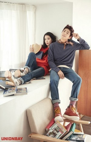 IU and Lee Hyun Woo for UnionBay