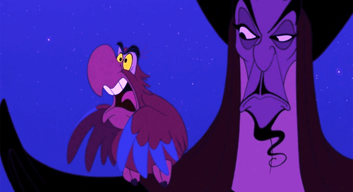 Disney Villains hình nền called Iago and Jafar