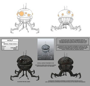 Imperial Probe Droid Concept Art
