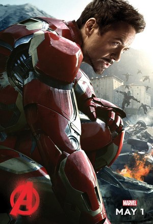 Iron Man in Avengers: Age of Ultron Poster da Robert Downey Jr's Tweeter