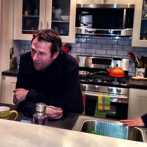 James Purefoy on set of The Following Season 3