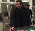 James Purefoy on the set of The Following today