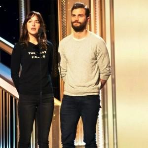Jamie and Dakota GG rehearsal
