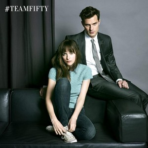 Jamie and Dakota as Christian and Ana