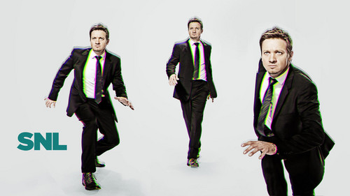 Jeremy Renner wallpaper with a business suit, a suit, and a well dressed person titled Jeremy Renner Hosts SNL: November 17, 2012