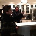 Jessica Stroup and James Purefoy on set of The Following Season 3