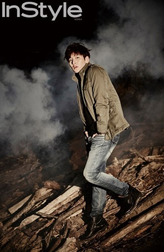 Ji Chang Wook Обои containing a огонь and a lumbermill entitled Ji Chang Wook For Upcoming Issue Of InStyle Korea
