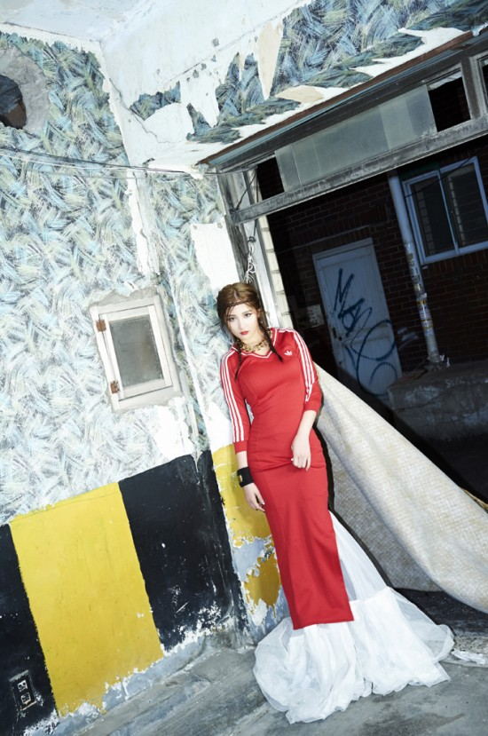 Jihyun teaser photo styled by Gayoon