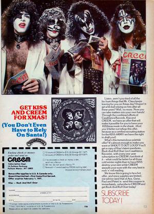 Kiss Creem subscription 1976