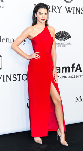Kendall Jenner wallpaper containing a dinner dress entitled Kendall Jenner in Romona Keveza dress