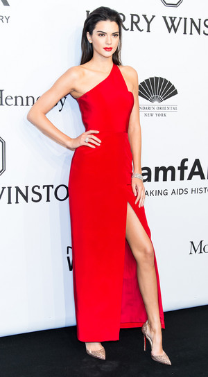 Kendall Jenner in Romona Keveza dress