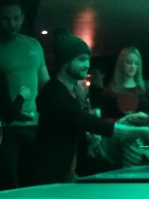 Latest: Daniel Radcliffe At 'bounce ping pong bar' (FB.com/DanielJacobRadcliffefanclub)