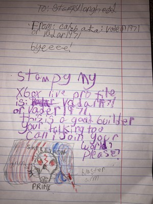 Letter To Stampy