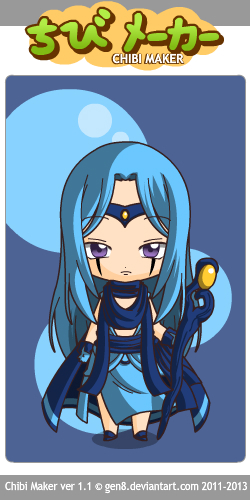 Leviathan Chibi. Leave it to him with his hair down to look like a girl