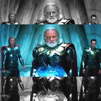 Loki, Odin and Thor
