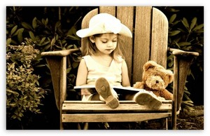 Lovely baby reader