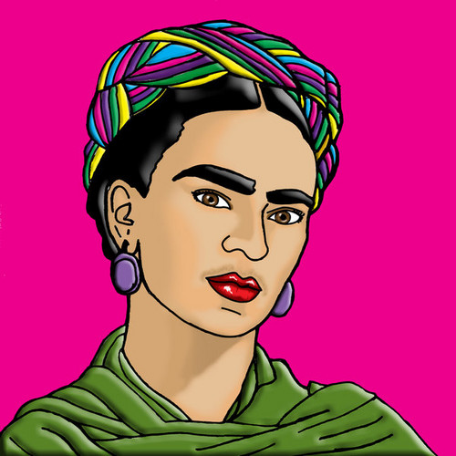 célébrités mortes jeunes fond d'écran with animé entitled Magdalena Carmen Frida Kahlo Calderon (1907 -1954)