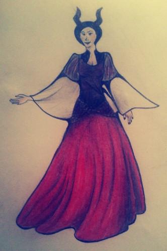 Maleficent achtergrond titled Maleficent Sketch