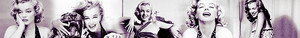 Marilyn Black and White Banner