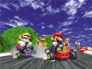 Mario Kart 64 karatasi la kupamba ukuta