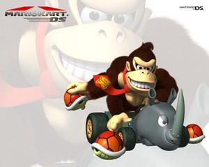 Mario Kart DS karatasi la kupamba ukuta