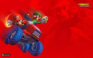 Mario Kart Double Dash karatasi la kupamba ukuta