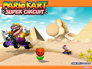 Mario Kart Super Circuit वॉलपेपर