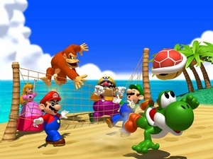 Mario Party kertas dinding
