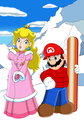 Mario and pic, peach