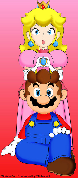 Mario and peach, pichi