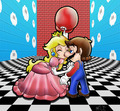 Mario and Peach - mario-and-peach fan art