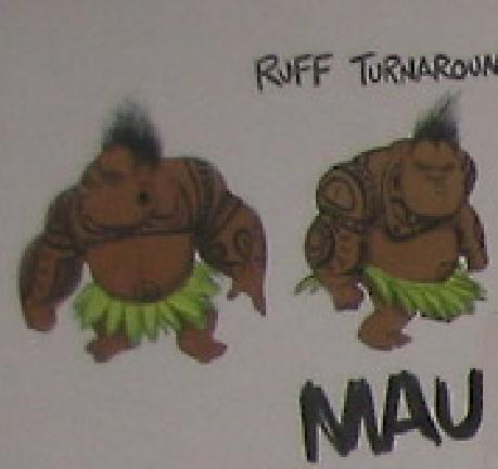 Disney's Moana Hintergrund called Maui concept art